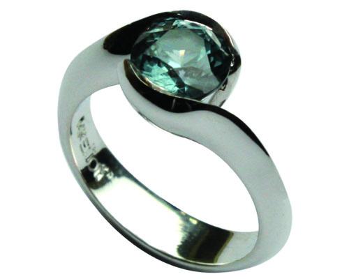 Sapphire Gallium Ring