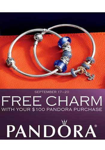 Pandora charm event promo