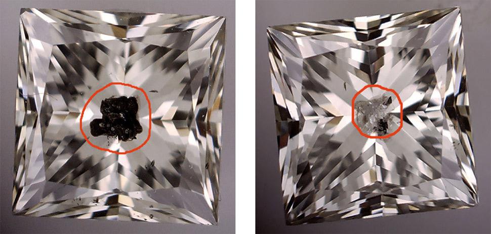laser drilled diamond