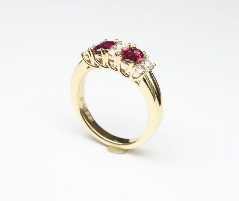 Custom Designed Ruby and Diamond Band