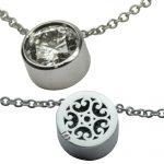 Stunning and Simple Large Diamond Bezel Pendant.