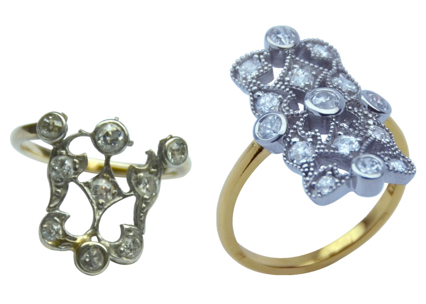Incredible Vintage diamond Ring Rebuild!