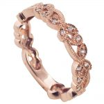 Charmingly Patterned Rose Gold Milgrain Band!