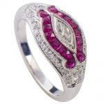 Stunning Art Deco Style Ruby Ring!