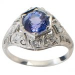 Vintage Engagement Style Tanzanite!